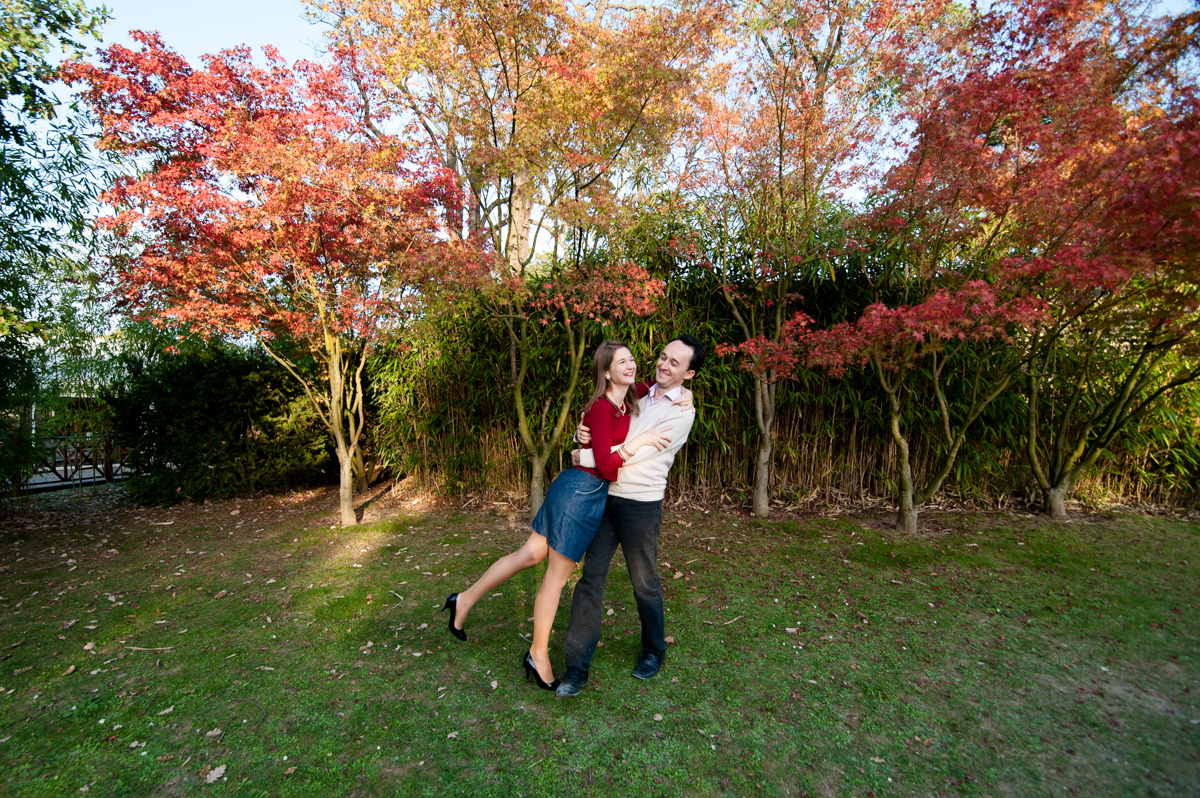 séance photo de couple en automne