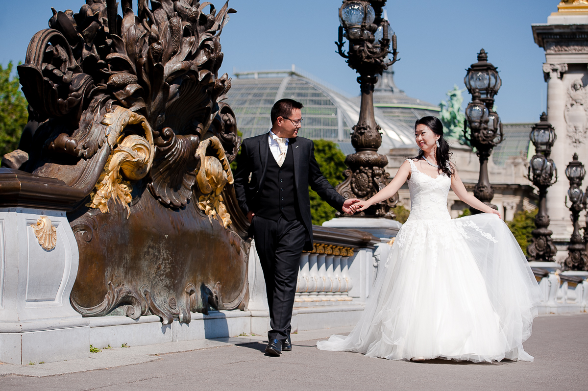 photos de couple pont alexandre III paris