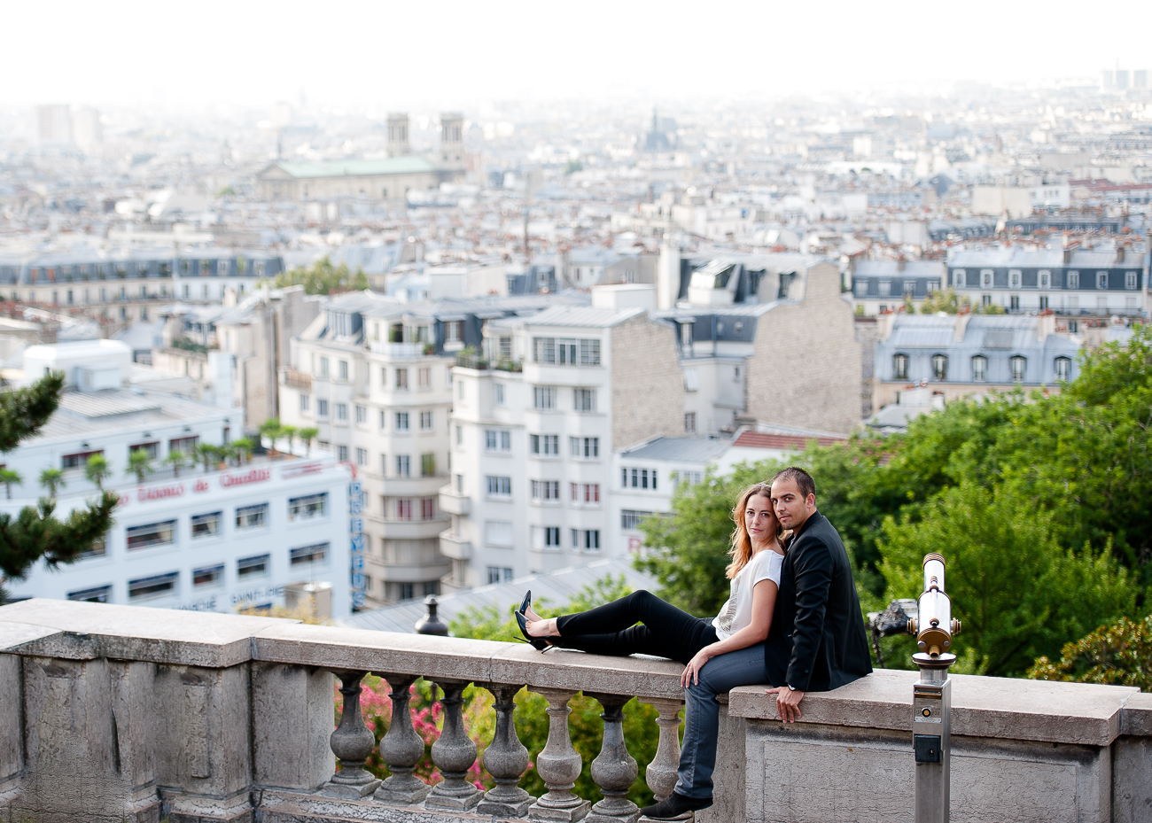 shooting photo romantique montmartre