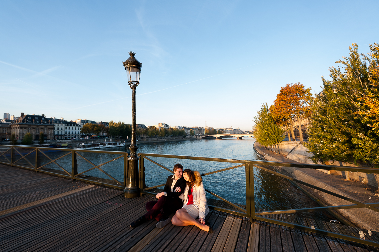 shooting photo au pont des arts